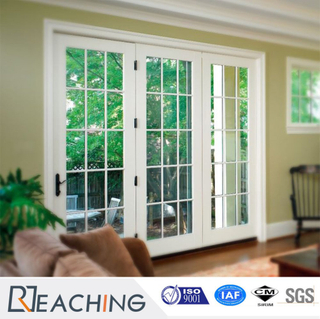Horizontal Opening White UPVC Clear Fiberglass Doors for Balcony