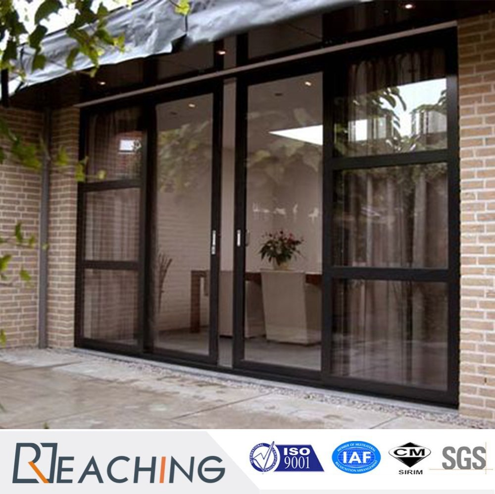 Free Design Aluminium Alloy Two Leaf Sliding Door Two Side Fixed
