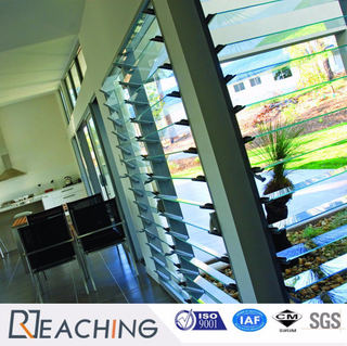 One Swich Open Shutter Glass Window Aluminium Frame