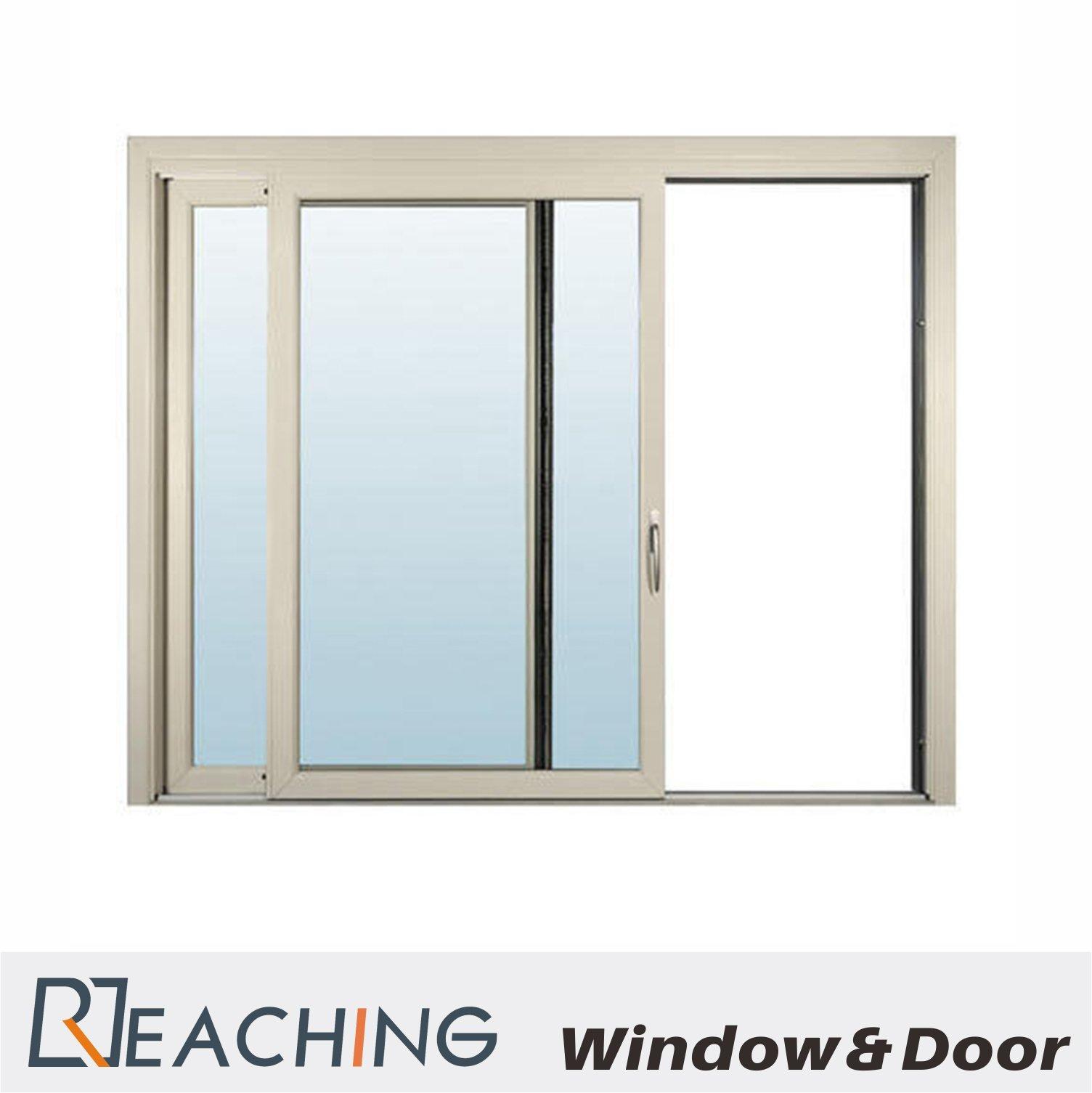blue Tinted Color Double Low-E Glass Aluminium Window Modern