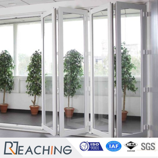 Large Openning Construction Vinyl Folding Door Noise Proof Anti Water