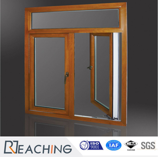 Innovative Design Aluminum Clad Wood out-Swing Double Twin Casement Window