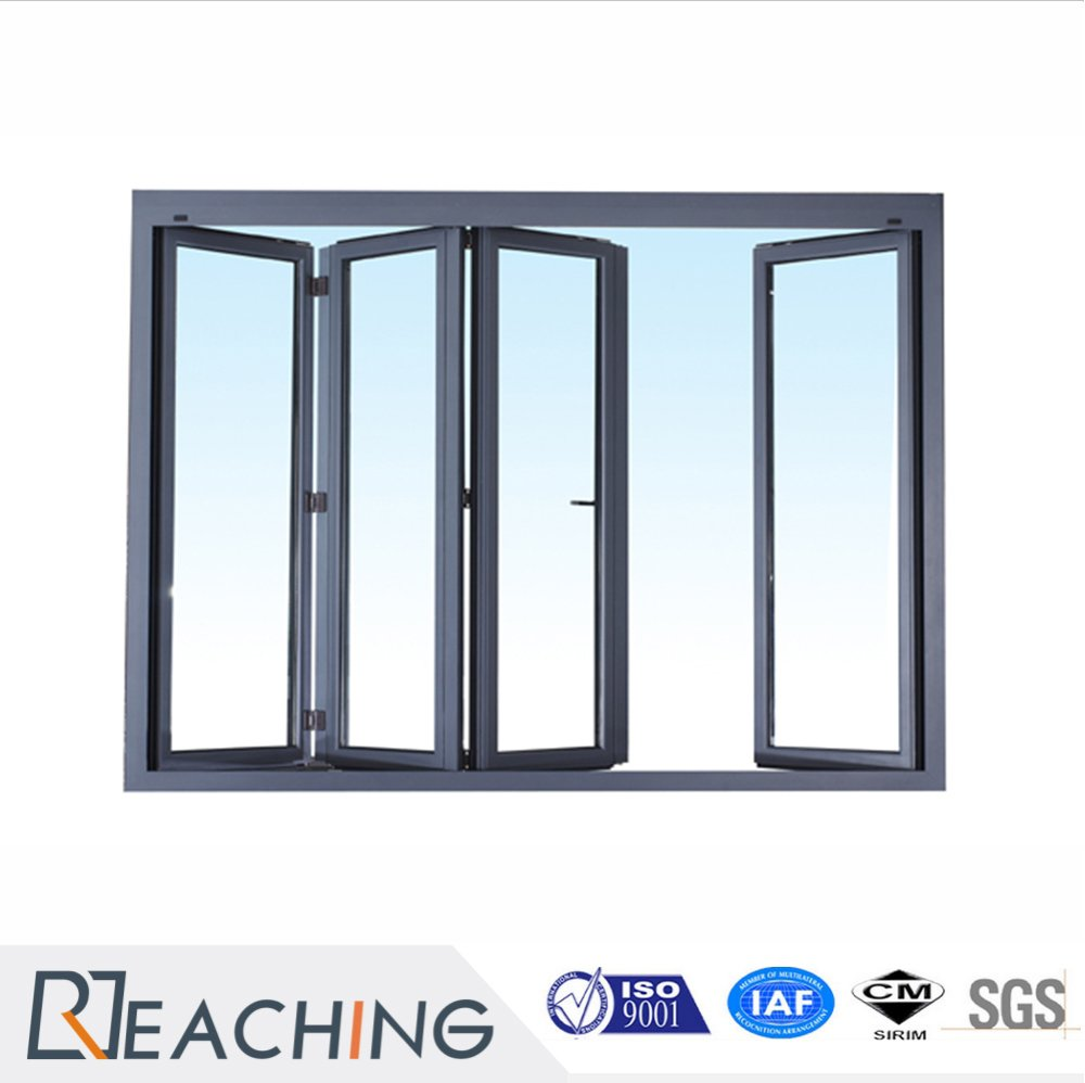 2017 Cheap Aluminum Glass Folding Window with Thermal Break