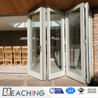 Standard Factory Sliding Folding Aluminium Door with Big Part Glass
