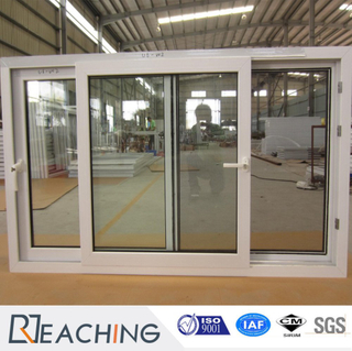 White UPVC Profile Frame Single Glass Sliding Window