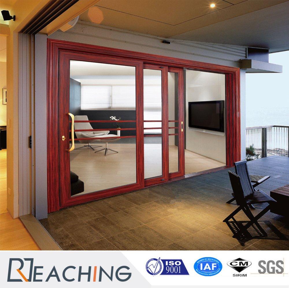 Interior/Exterior Aluminum Frame Tempered Gl Sliding Door from ... on