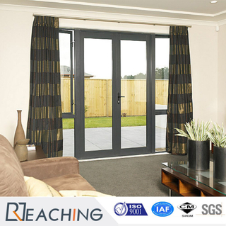 High Quality Entry UPVC Double Glass Casement Door