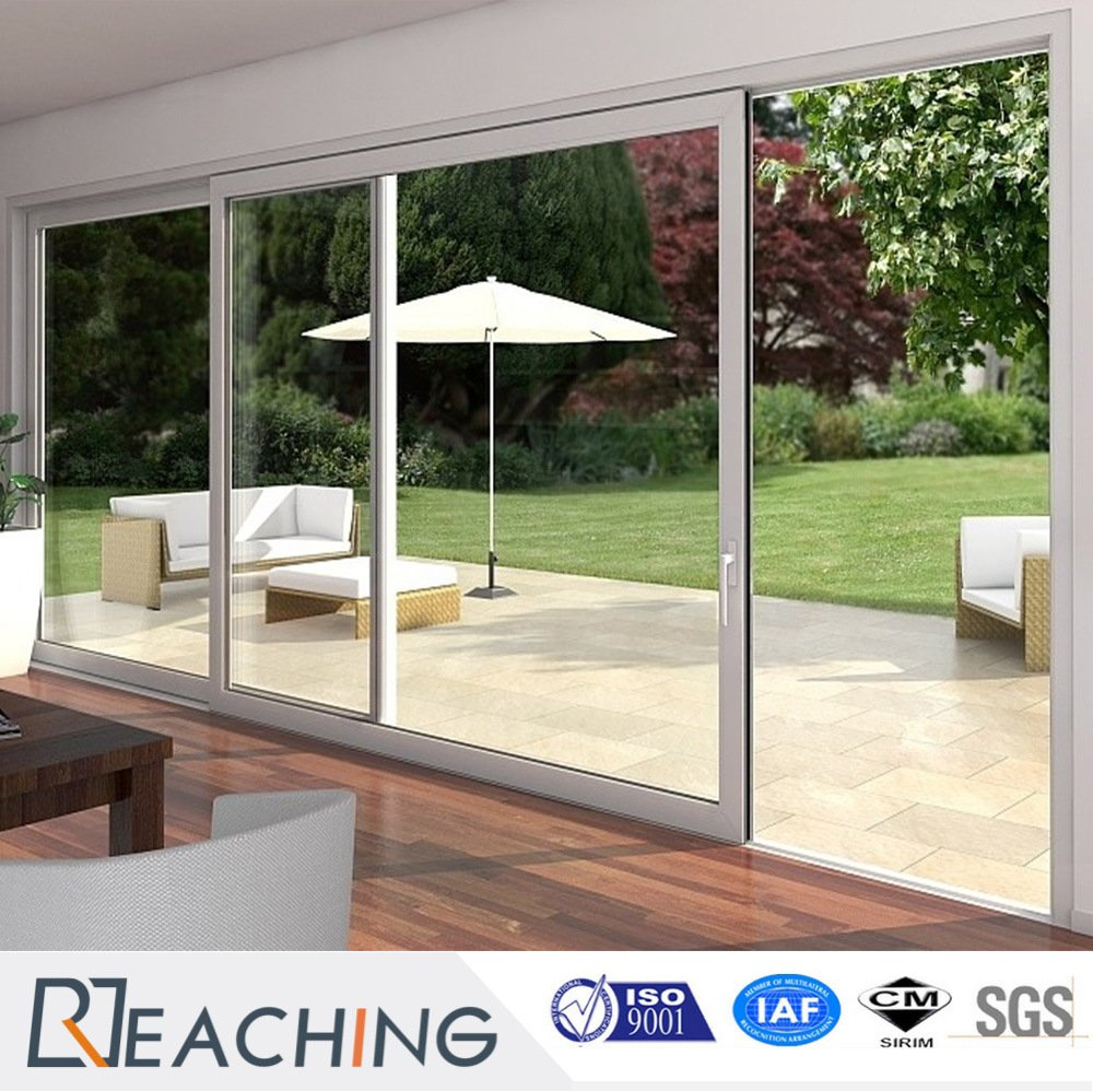 Hot Selling Cheap Price Fiberglass Plastic UPVC/PVC Glass Sliding Doors with Grill Inside
