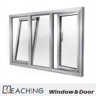 Sliver Aluminium Casement Window with Insulating Double Glass