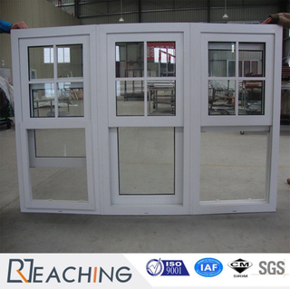 UPVC Plastic with Steel Reinforce Sliding Window with Fixed Glass Factory