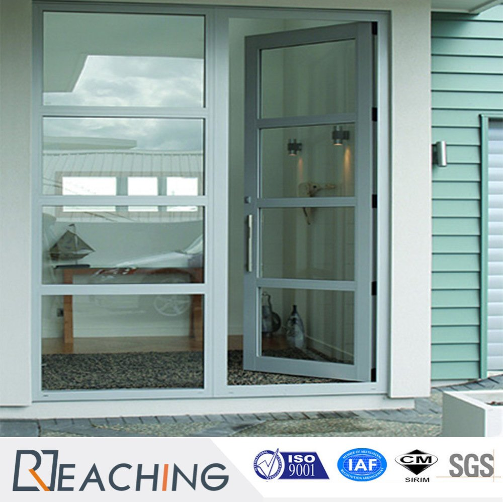 Wholesale Single Glass Exterior French UPVC Door for Terrace