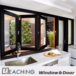 Kitchen Aluminium Windows and Doors Folding Open with Water Proof Durable Hardware