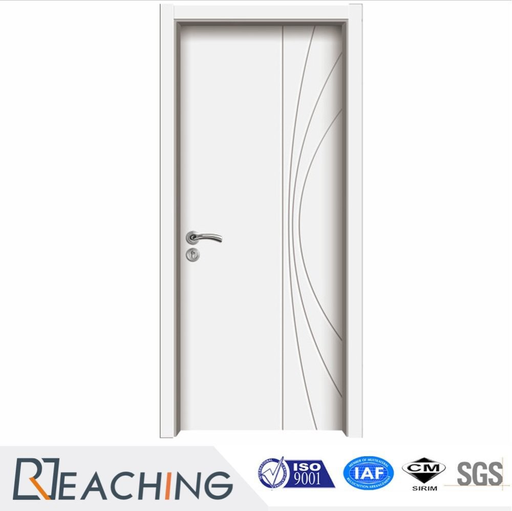 White Color High Gloss Vinly PVC Composited Door for Hotel Malaysia