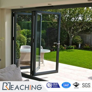 Modern Villa Folding Glass Door Space Save Aluminium Profile Windows